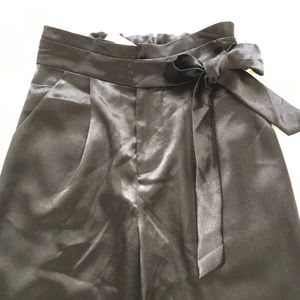 Heartloom Pants - NWT HEARTLOOM Satin Tie-High Waist Pants XS